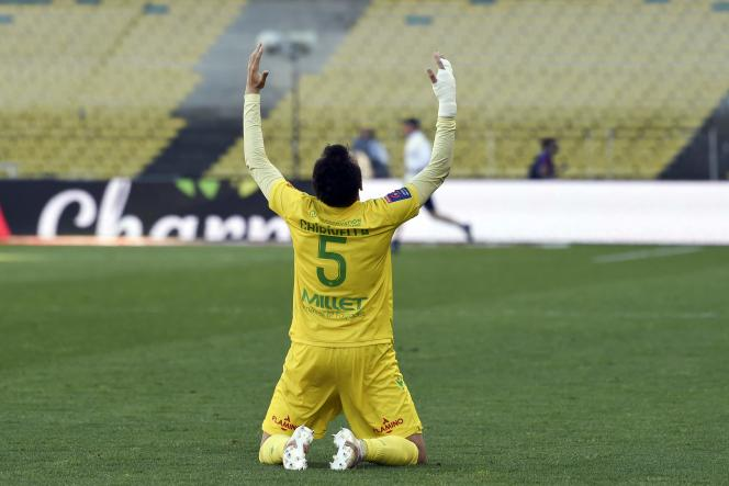 Pedro Chirivella relieved after the maintenance acquired by FC Nantes against Toulouse, Sunday, May 30.