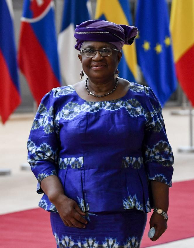 Ngozi Okonjo-Iweala, before a meeting at the European Union headquarters in Brussels, on May 19, 2021.