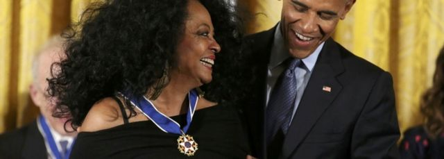Diana Ross received the medal in 2016