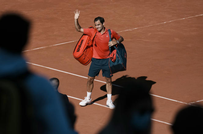 Roger Federer after his victory in the first round, Monday, May 31, 2021 at Roland-Garros.