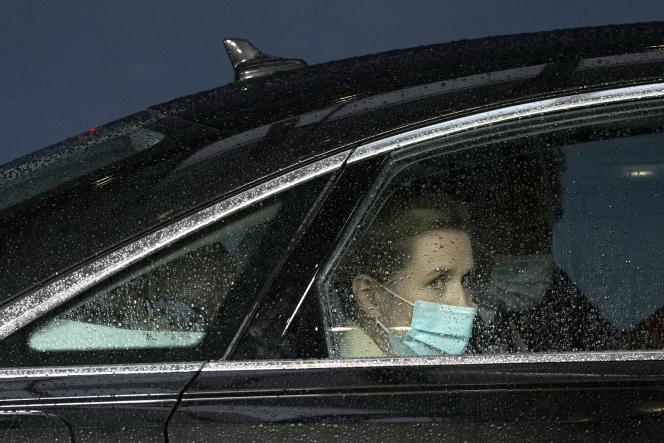 Danish Prime Minister Mette Frederiksen in Brussels on May 24.  Germany and France had summoned her, Monday, May 31, to explain the accusations of espionage revealed by the press.