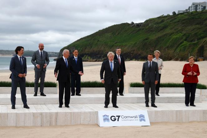During the G7, in the south-west of England, on June 11, 2021.