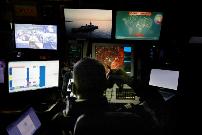 Tactical surveillance operation by the French national navy in the Mediterranean Sea, in October 2020.