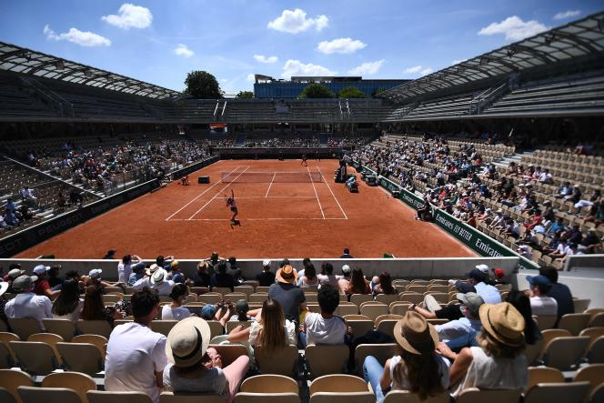 The Simonne-Mathieu court, during the first day of the 2021 edition of Roland-Garros.