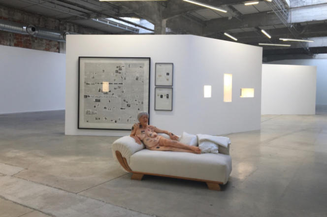 """View of the exhibition """"Work on Sunday"""", by Gilles Barbier."""