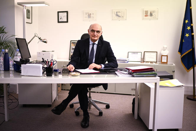 The president of the High Authority for the transparency of public life, Didier Migaud, in his office, in Paris, on November 23, 2020.