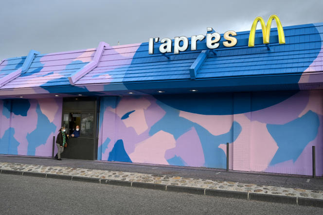 """Inauguration of """"L'Après M"""", a social restaurant located in a former McDonald's, on December 19, 2020, in Marseille."""