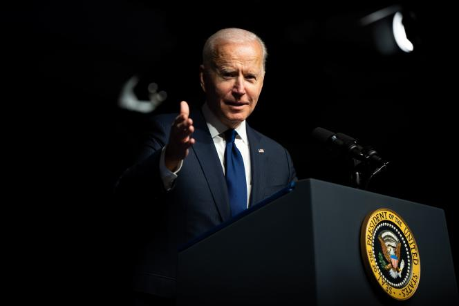 United States President Joe Biden speaks on the 100th anniversary of the massacre of African Americans in Tulsaa, Oklahoma, in June 2021.
