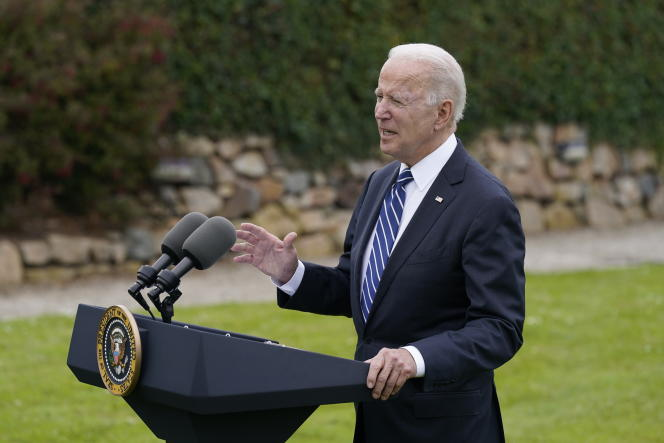 Joe Biden on his arrival in England to participate in the G7, Thursday, June 10, 2021.
