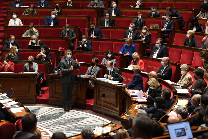 The Minister of the Interior, Gérald Darmanin, at the National Assembly, May 25, 2021, in Paris.