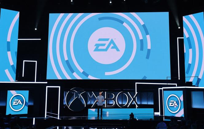 An Electronic Arts presentation at E3, June 11, 2017, in Los Angeles.