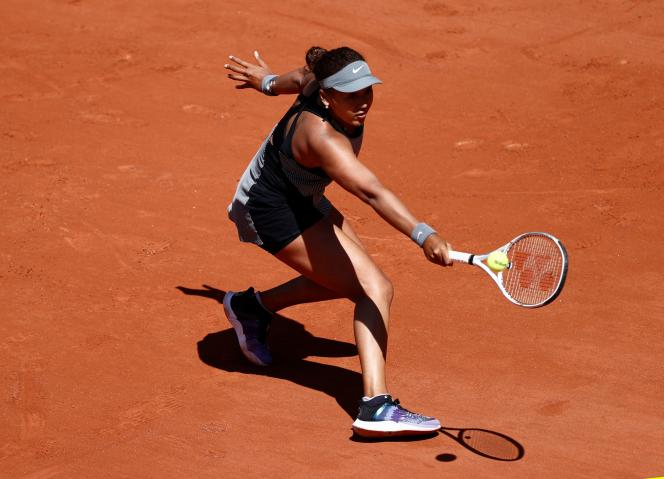 Naomi Osaka, during her first round at Roland Garros, against the Romanian Patricia Maria, on May 30, 2021, in Paris.