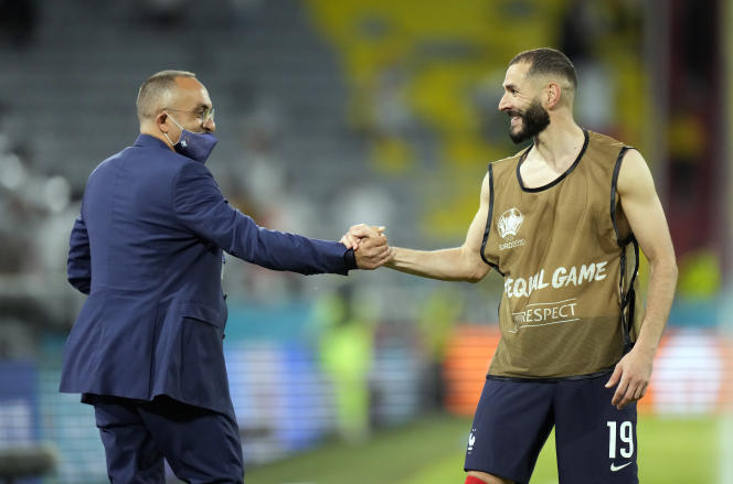 Karim Benzema after the match against Germany on Tuesday June 15.