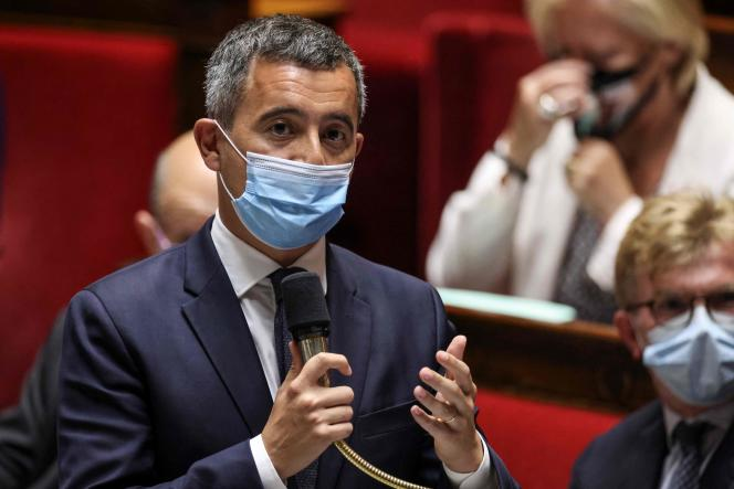 Interior Minister Gérald Darmanin, at the National Assembly, June 15, 2021.