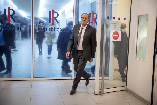 Renaud Muselier, on leaving the National Investiture Council at the headquarters of the Les Républicains (LR) party in Paris, on May 4.