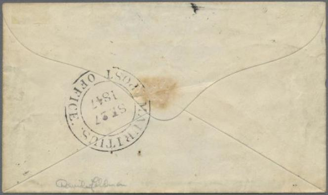 Back of the letter from Mauritius (1847) sold for 8.1 million euros ... All details matter! ...