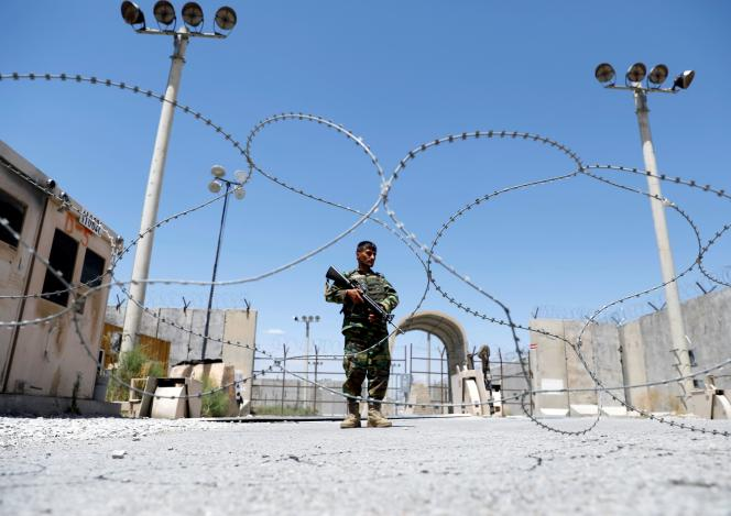 An Afghan forces soldier at the Bagram base, July 2, 2021.